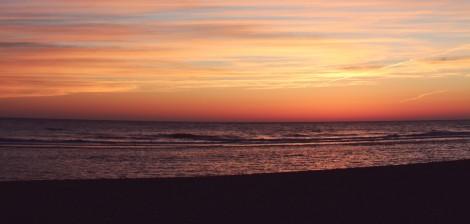sun set sky